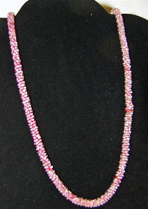 seed bead necklaces deco vintage glass seed bead necklace cord style