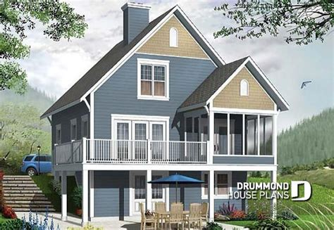 Vacation House Plans Sloped Lot by House Plan W3929 V1 Detail From Drummondhouseplans