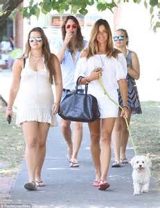 kelly bensimon on a stroll with daughters thadeus and sea