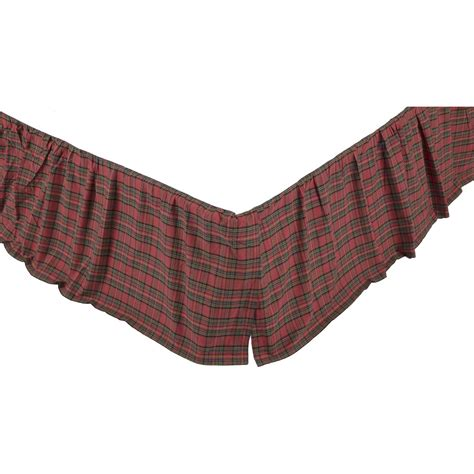red bed skirt tartan red plaid king bed skirt 78x80x16 primci country home decor