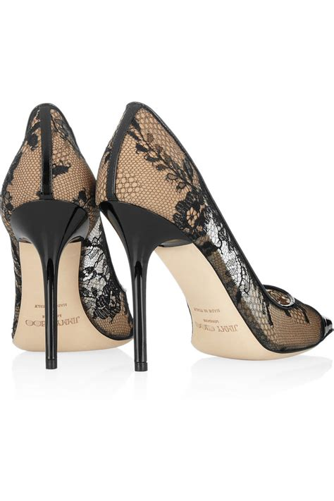high heels jimmy choo lace meets leather high heels daily