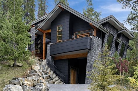 mountain home exteriors modern rustic homes with black exteriors mountain modern