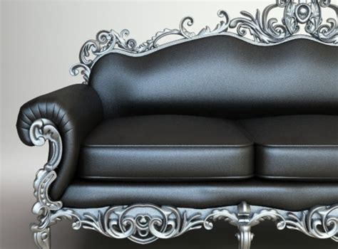 ornate couch ornate baroque sofa 3d model max obj 3ds fbx mtl