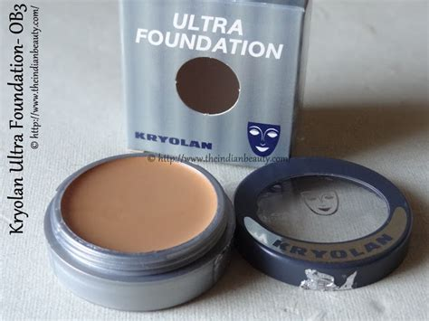 Kryolan Foundation Review Kryolan Ultra Foundation Ob3 Review The Indian