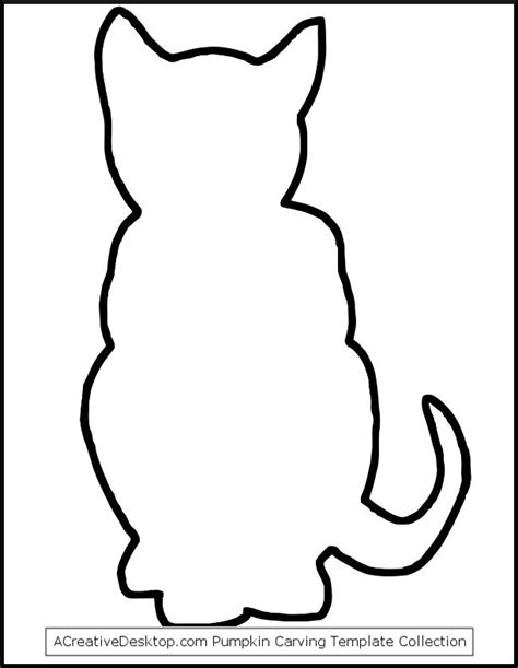 photo black cat outline stencil png papercraft