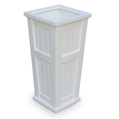 Column Planters by Mayne Cape Cod 15 1 2 In Square White Plastic Column