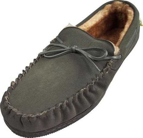 Cowhide Slippers - norty mens genuine leather cowhide suede slippers