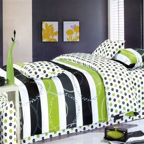 lime green and black comforter lime green black stripe reversible comforter with 6pc twin
