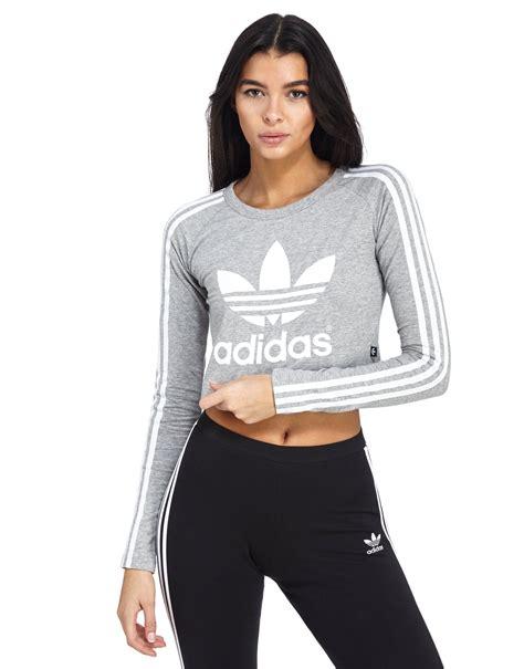 Crop Shirt adidas originals sleeved crop t shirt jd sports