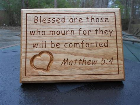 those who mourn will be comforted those who mourn carved plaque the grief toolbox