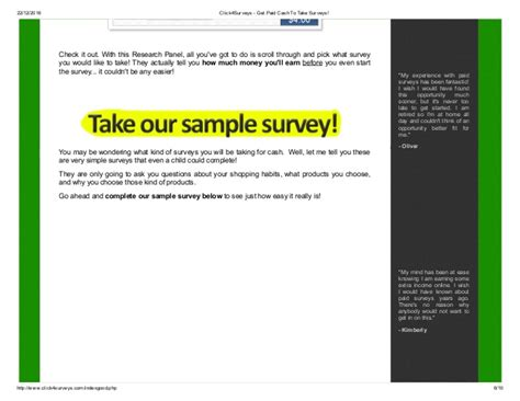 Paid To Take Surveys - click4 surveys get paid cash to take surveys