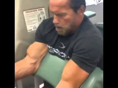 arnold schwarzenegger 41 years later then now arnold schwarzenegger 2013 trains biceps at 66 years