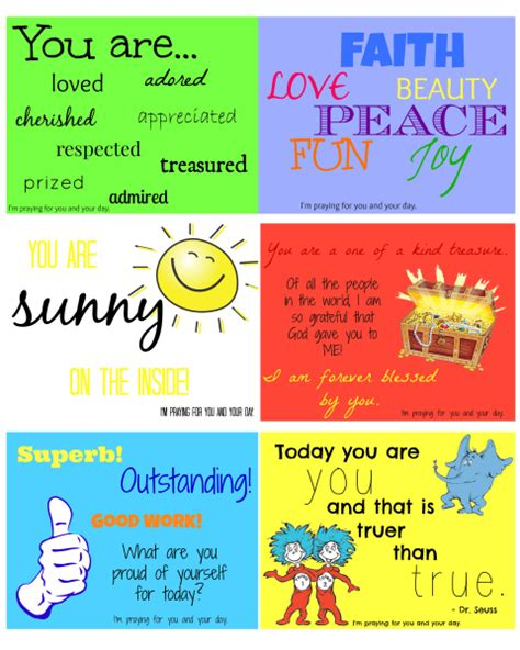 Printable Children S Prayers | affirmation cards for kids young adults affirmation