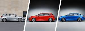 audi a3 hatchback vs a3 sportback vs a3 saloon carwow