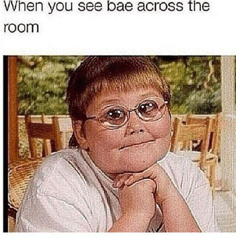 i saw you from across the room when you see bae across the room the room meme on me me