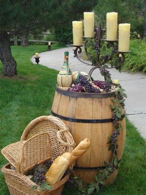 wine themed decorations 35 creative rustic wedding ideas to use wine barrels