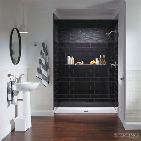 34 black bathroom tile ideas and pictures 305 best images about house beautiful bathrooms on