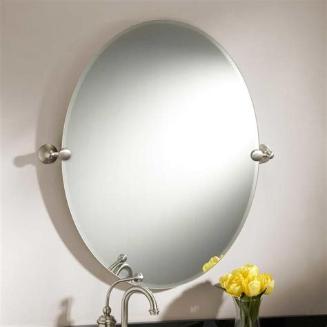 tilting bathroom mirrors 31 quot seattle oval tilting mirror bathroom