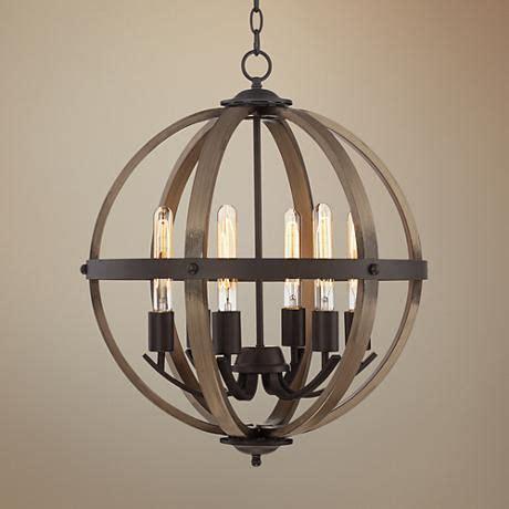 forty designs bristol 6 light chandelier kimpton 6 light 21 quot wide bronze and wood orb