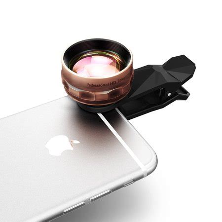 2x hdtelephoto cell phone camera lens kit, 2x close for