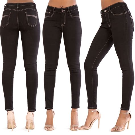 Jegging Cotton 4 Ripped Black new blue black ripped slim fit