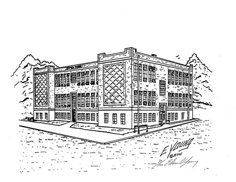 Sketches School by High School Building Drawing Www Pixshark Images