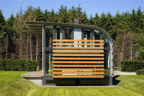 metal roof houses curved steel roof home  dutch architects