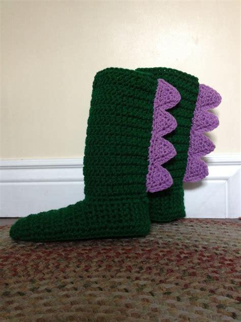 crochet dinosaur slippers dinosaur crochet slippers