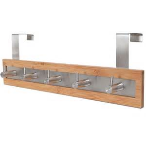 bath towel hook rack bamboo and stainless steel the door hooks at 20