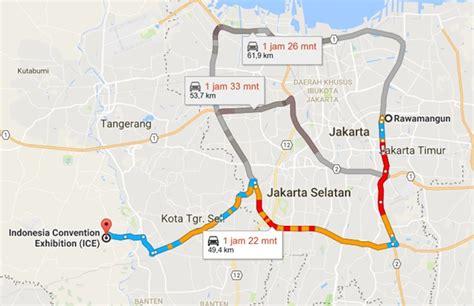 rute pintu tol jagorawi mau ke giias 2016 ini dia rute jalan dan lokasi shuttle