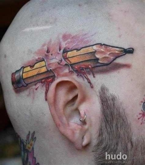 tattoo pen in ear un tatuaggio divertente ma cool i poster hudo com it