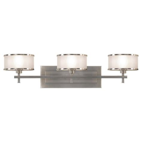 Luxury Vanity Lights Feiss Casual Luxury 3 Light Brushed Steel Vanity Light Vs13703 Bs The Home Depot