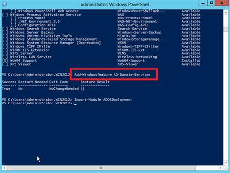windows server de powershell ile active directory