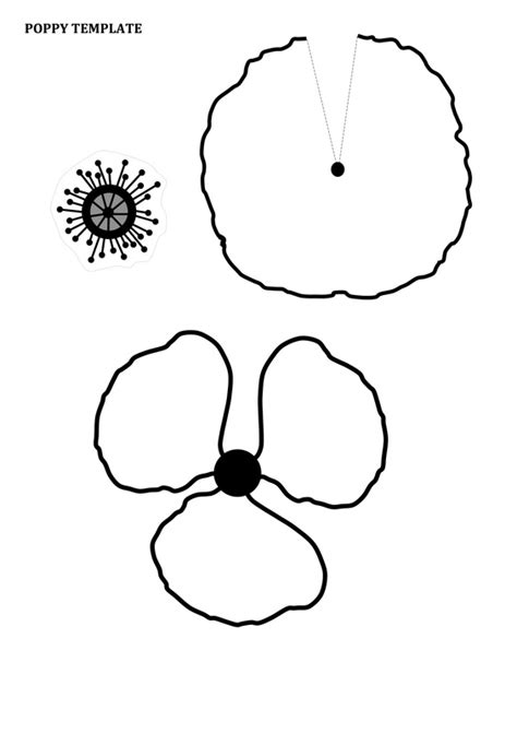poppy template printable paper poppies craft n home