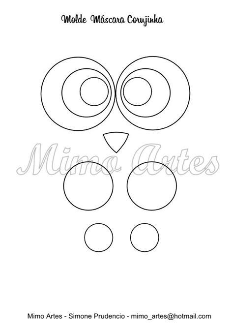 Mascara de feltro corujinha com molde para impressão