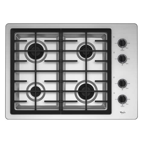 top gas cooktop whirlpool w5cg3024xs 30 quot gas cooktop sears outlet