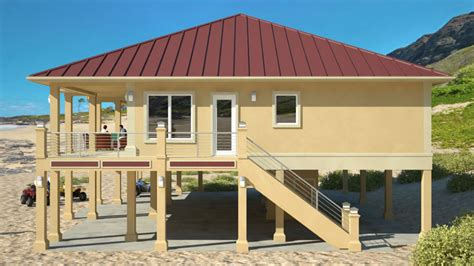 beach house plans on piers clearview 2400p 2400 sq ft on piers beach house plans