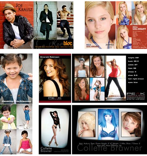 Actors Comp Card Template by Acting Modeling Post Card Zed Card Business Card