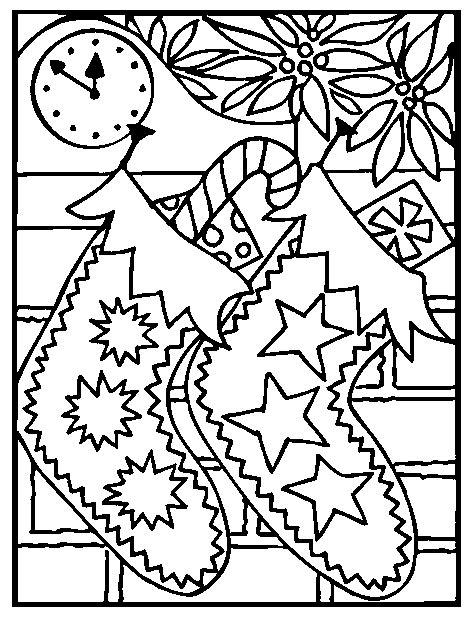 lade da disegno disegno da colorare calzette di natale
