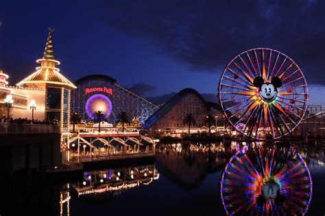 adventure park usa lights disneyland 5k retina ultra hd wallpaper and background