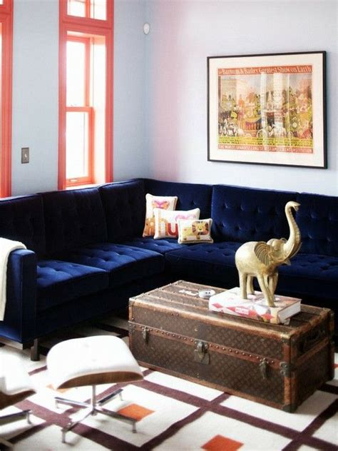 navy velvet sectional navy velvet sectional sofa my bonus room pinterest