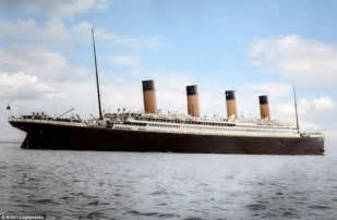titanic in colour photographer colours black and white