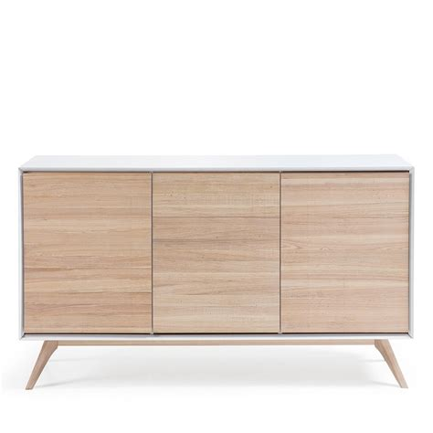 Buffet Blanc Et Bois by Buffet Design Blanc Et Bois De Fr 234 Ne Josh By Drawer