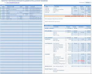Excel Budget Planner Template Household Budget Planner Template Sample