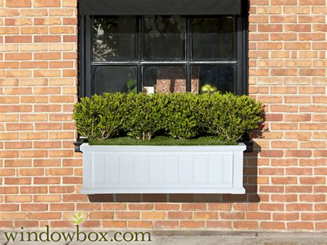 white vinyl window boxes promenade window box white vinyl window boxes window