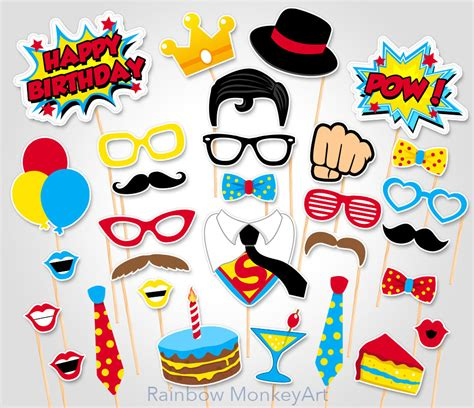 printable superhero photo booth props superhero birthday photo booth props superhero superman
