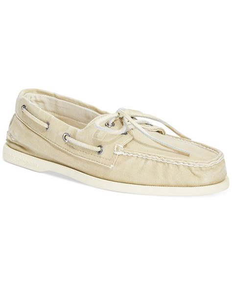 sperry top sider s a o 2 eye salt washed canvas boat
