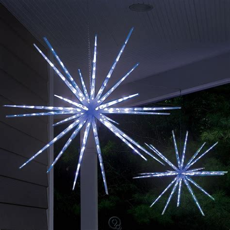 moravian outdoor light hammacher schlemmer the moravian light show led blue