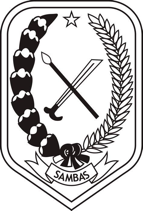 Logo Hitam 89 lambang logo logo kabupaten sambas