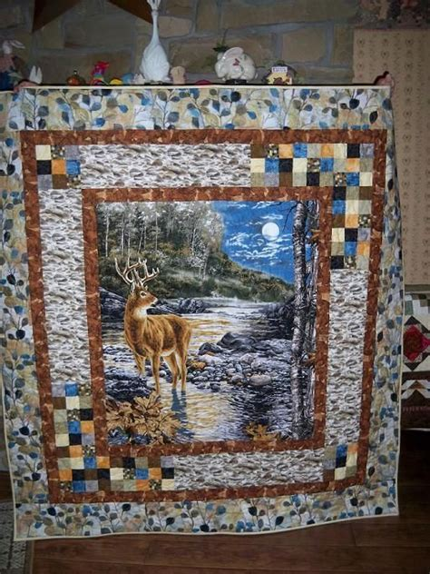 great exle of how to use a panel quilt ideas